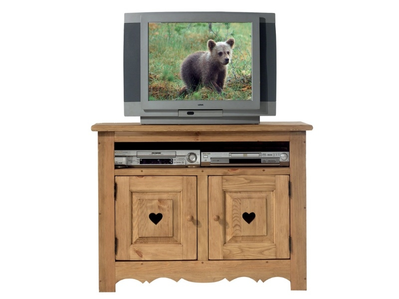 Тумба под телевизор из массива ТВ №;