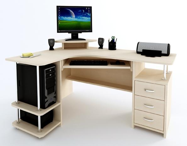 Угловой компьютерный стол Компас С-224 БН