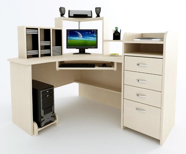Угловой компьютерный стол Компас С-225