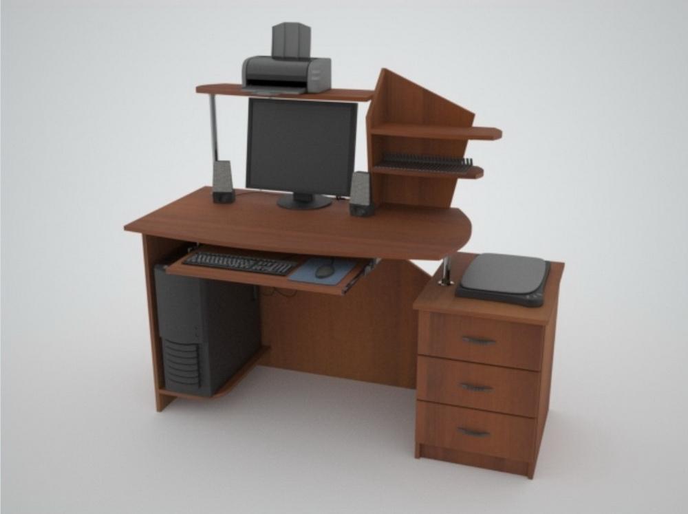 Компьютерный стол с надстройкой Поинт С-2