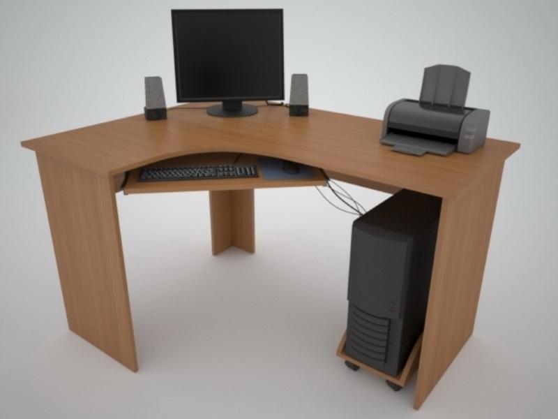 Недорогой компьютерный стол Поинт СТ-3