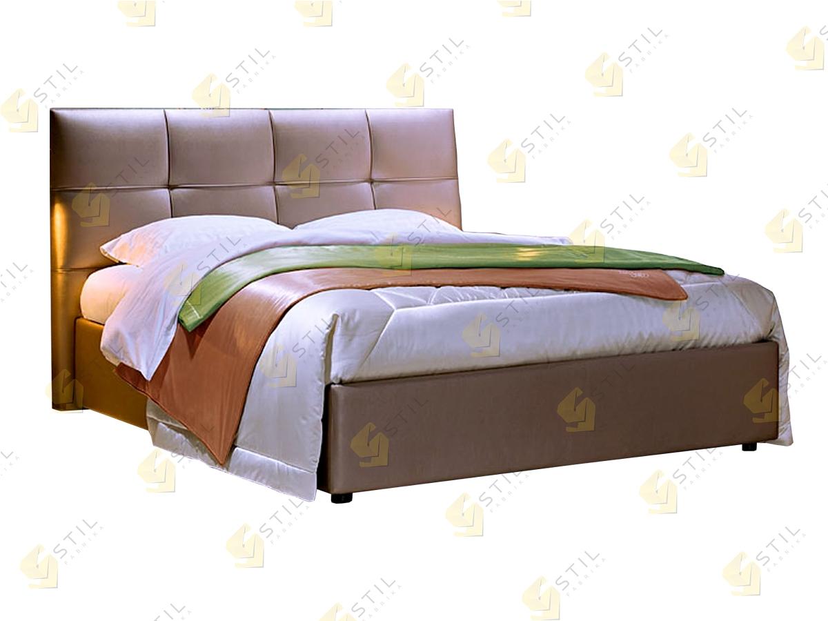Кровать с мягким изголовьем Клития