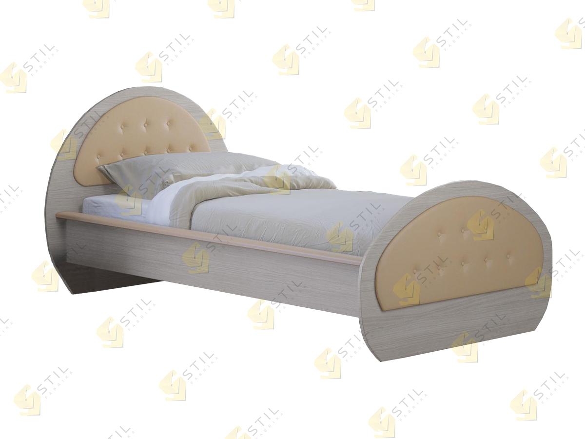Кровать с мягким изголовьем Клото