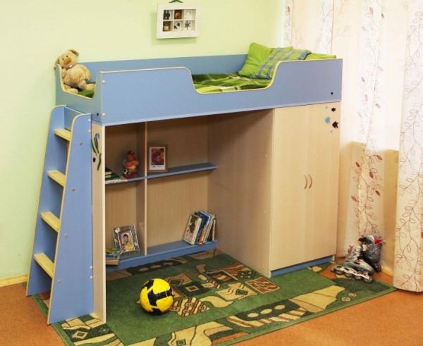 Недорогая кровать-чердак Сказка-2