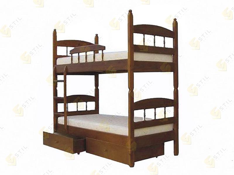 Двухъярусная кровать из массива Кузя-2
