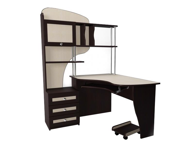 Компьютерный стол с надстройкой М-15 от производителя фабрики Стиль