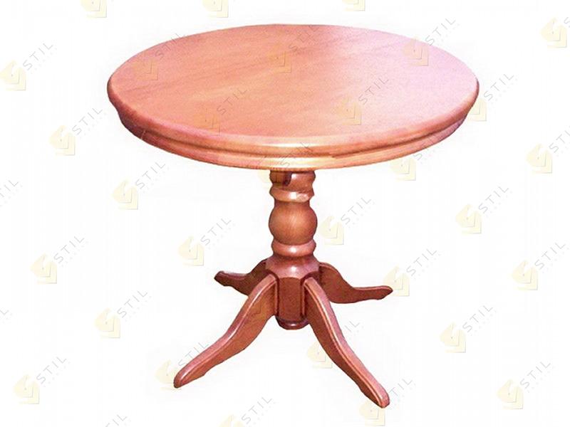 Кухонный стол из массива Майкрофт круглый