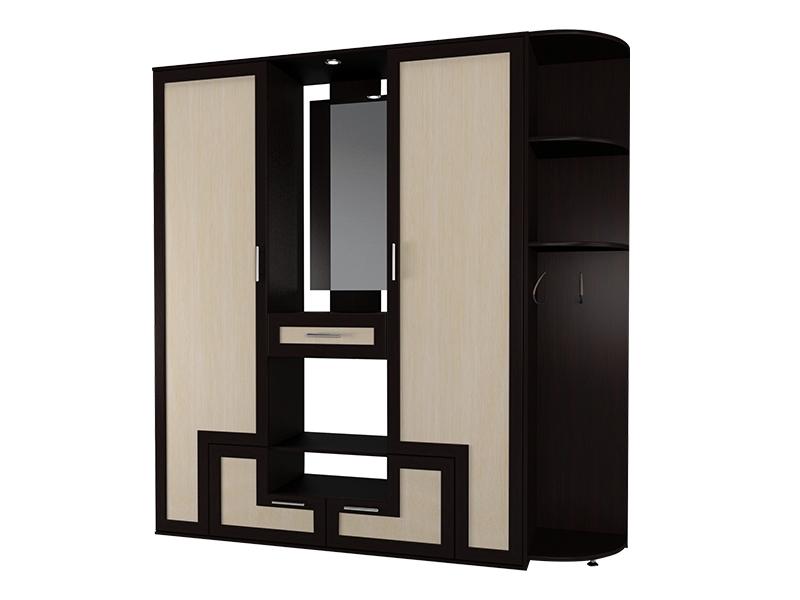 Прихожая премиум-класса с распашными шкафами М-16