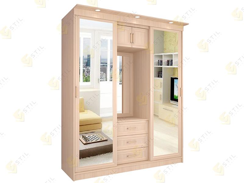 Недорогой шкаф-купе с зеркалами Миллениум Р-7Х