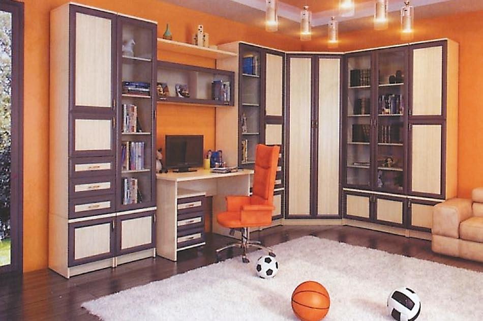 Большой набор мебели в детскую Мишель-2