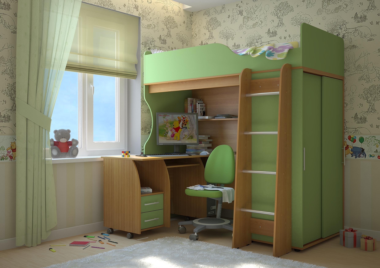 Недорогая мебель в детскую Мишутка