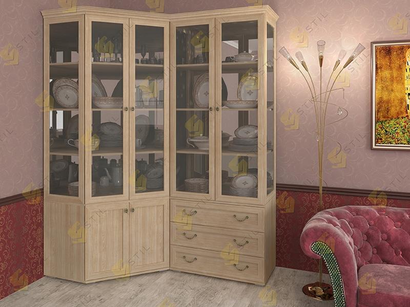 Набор шкафов для посуды Витраж 1С