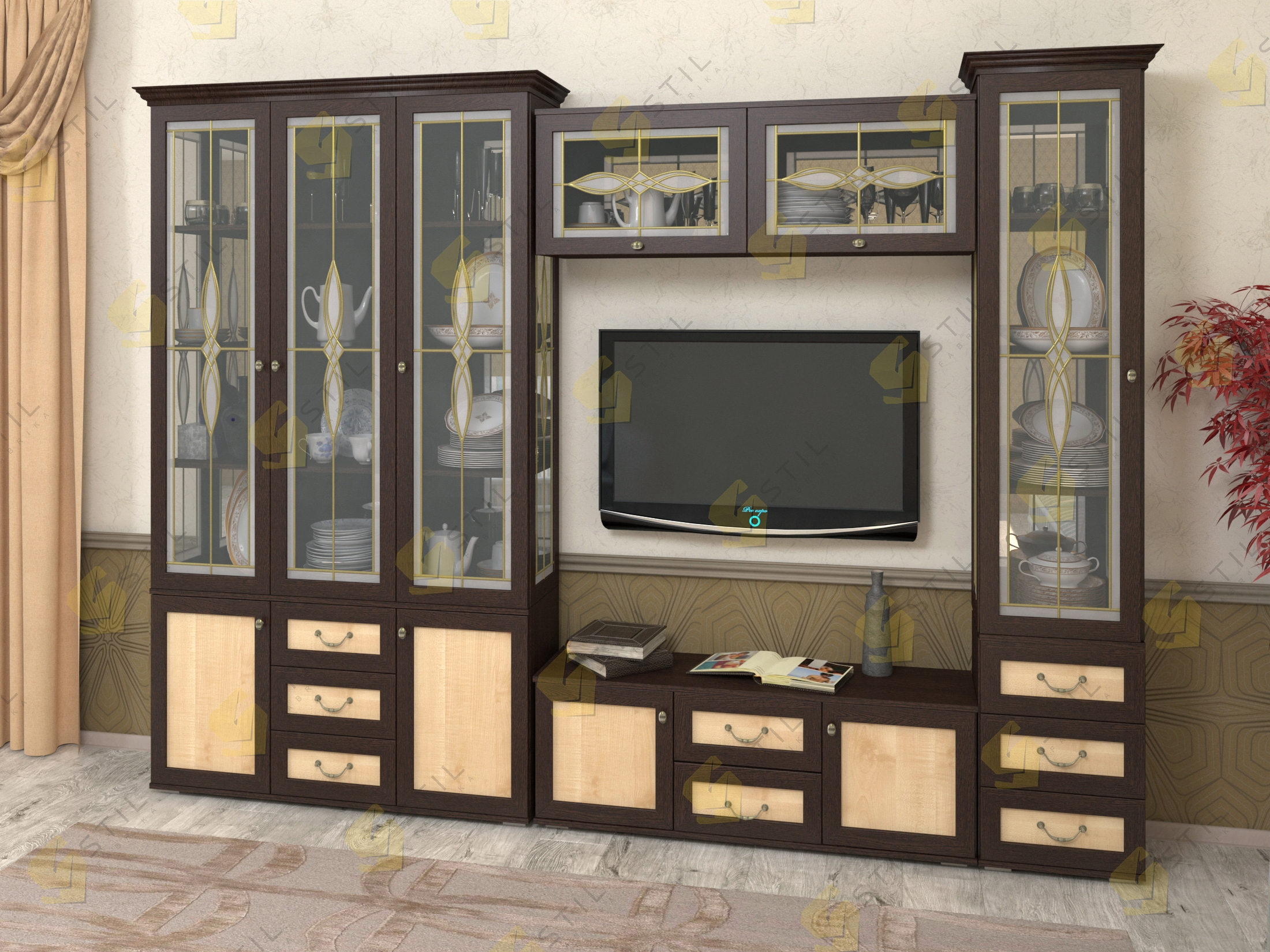 Набор мебели в гостиную Витраж 20В