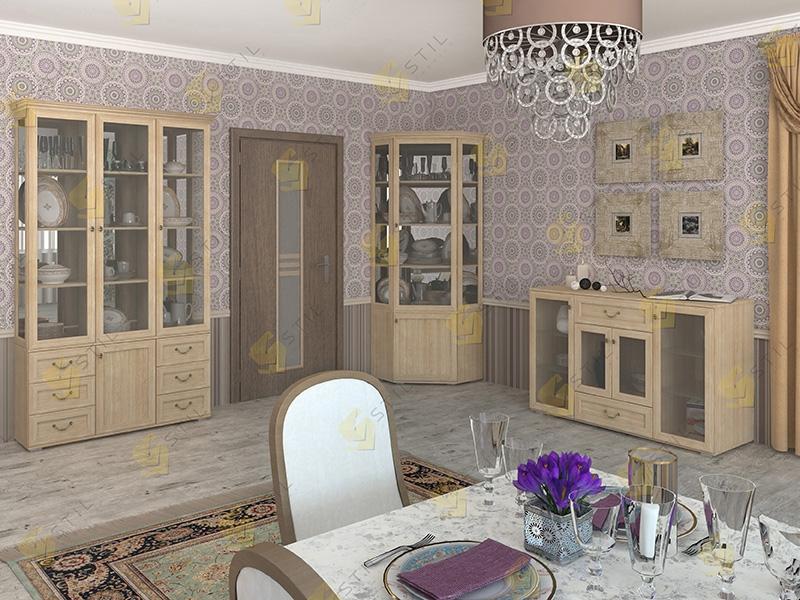 Набор шкафов для посуды Витраж 7С