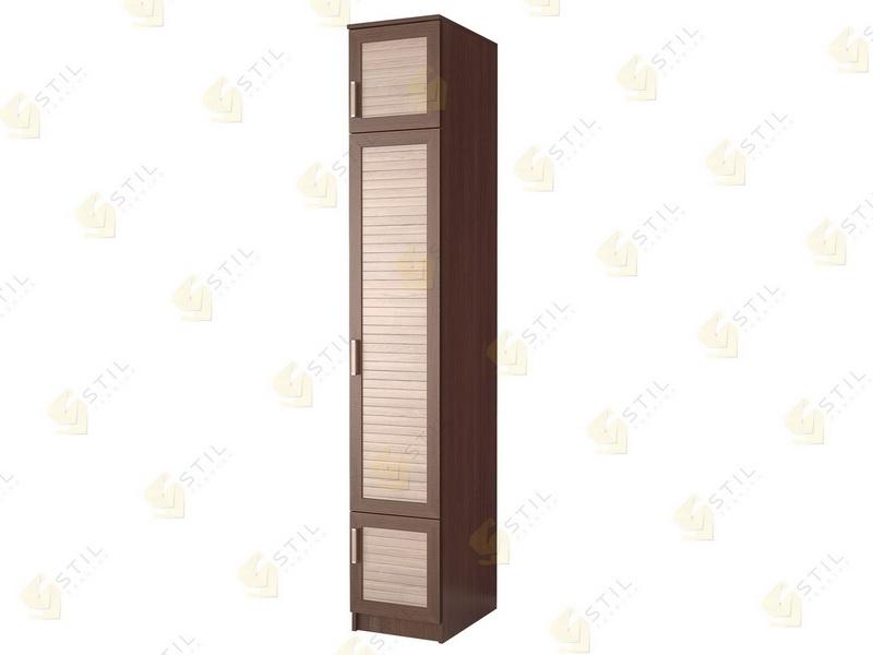 Недорогой одностворчатый шкаф с реечными фасадами П-13Р