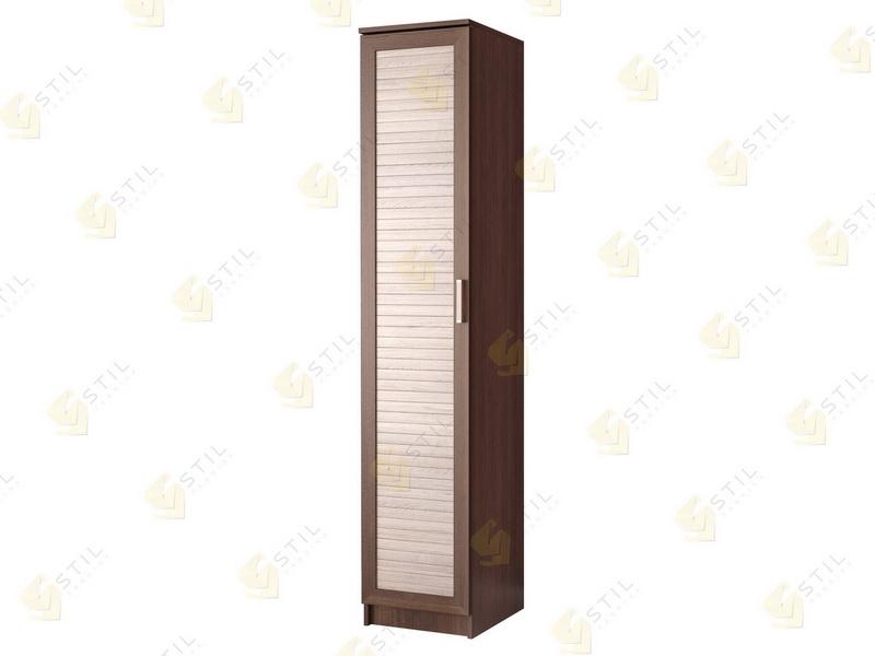 Недорогой одностворчатый шкаф с реечными фасадами П-1Р