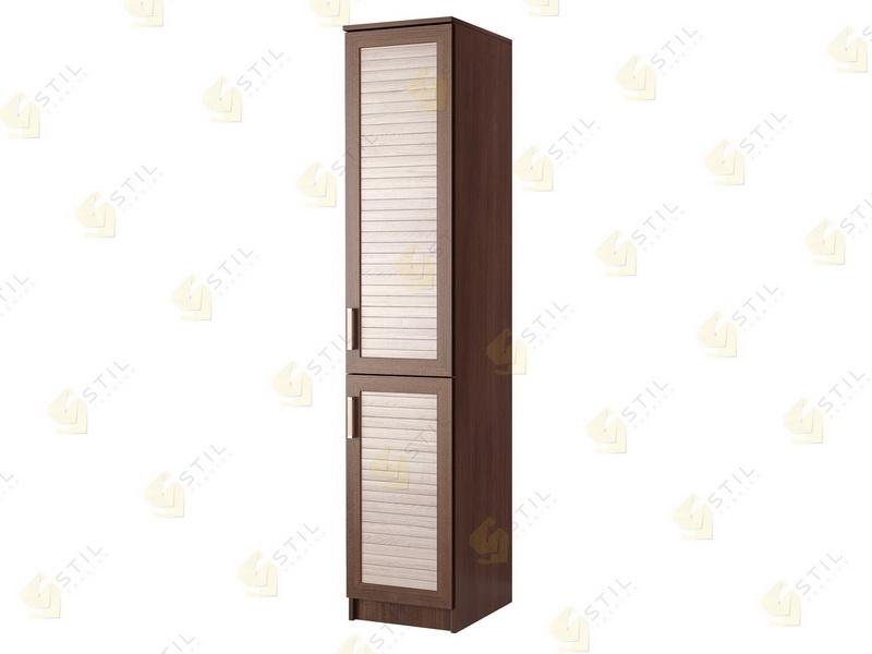 Недорогой одностворчатый шкаф с реечными фасадами П-6Р