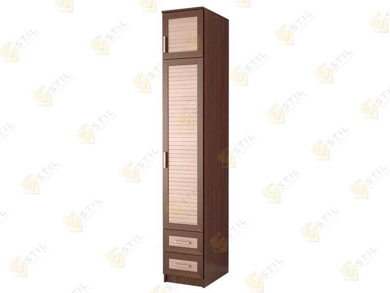 Недорогой одностворчатый шкаф с реечными фасадами П-9Р