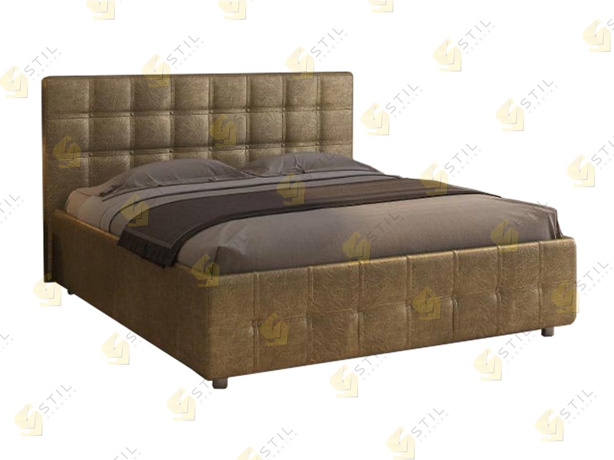 Кровать с мягким изголовьем Петерс
