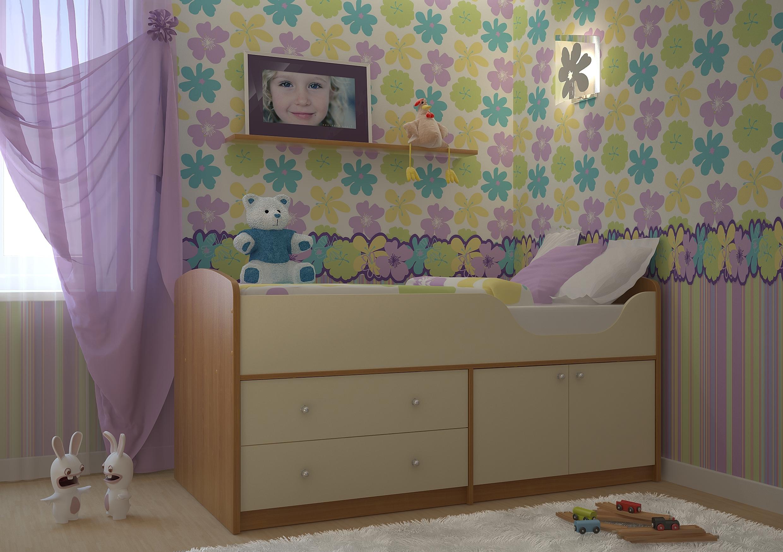Недорогая мебель в детскую для девочки Приют-мини
