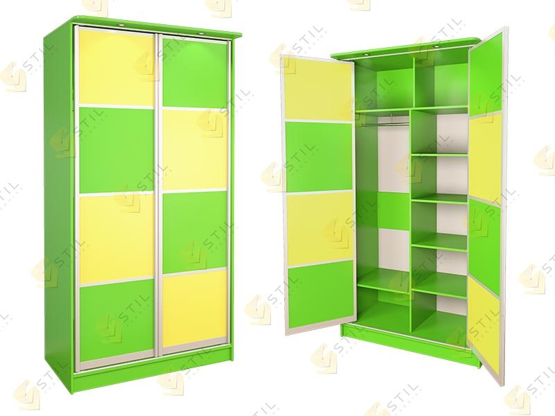 Распашной шкаф в детскую Радуга 2Х-11