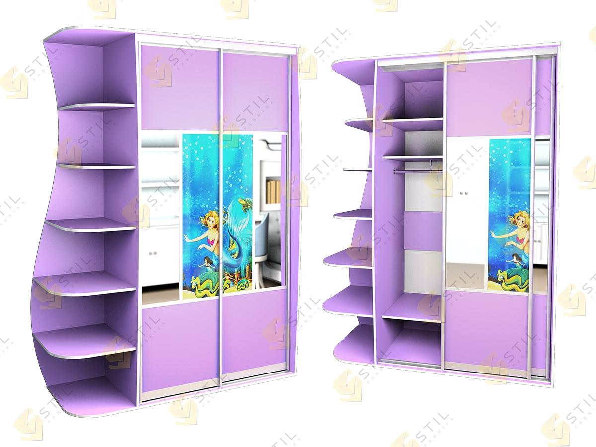Детский шкаф купе Радуга 2х-10