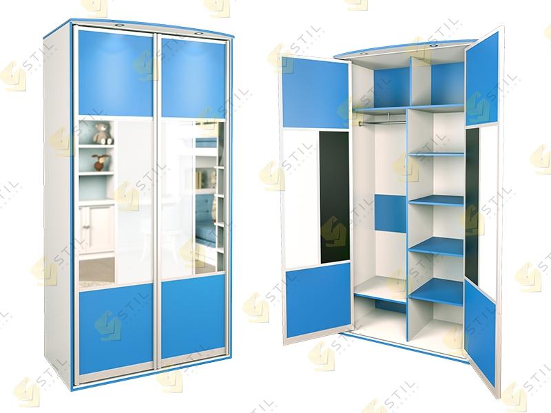 Распашной шкаф в детскую Радуга 2Х-12