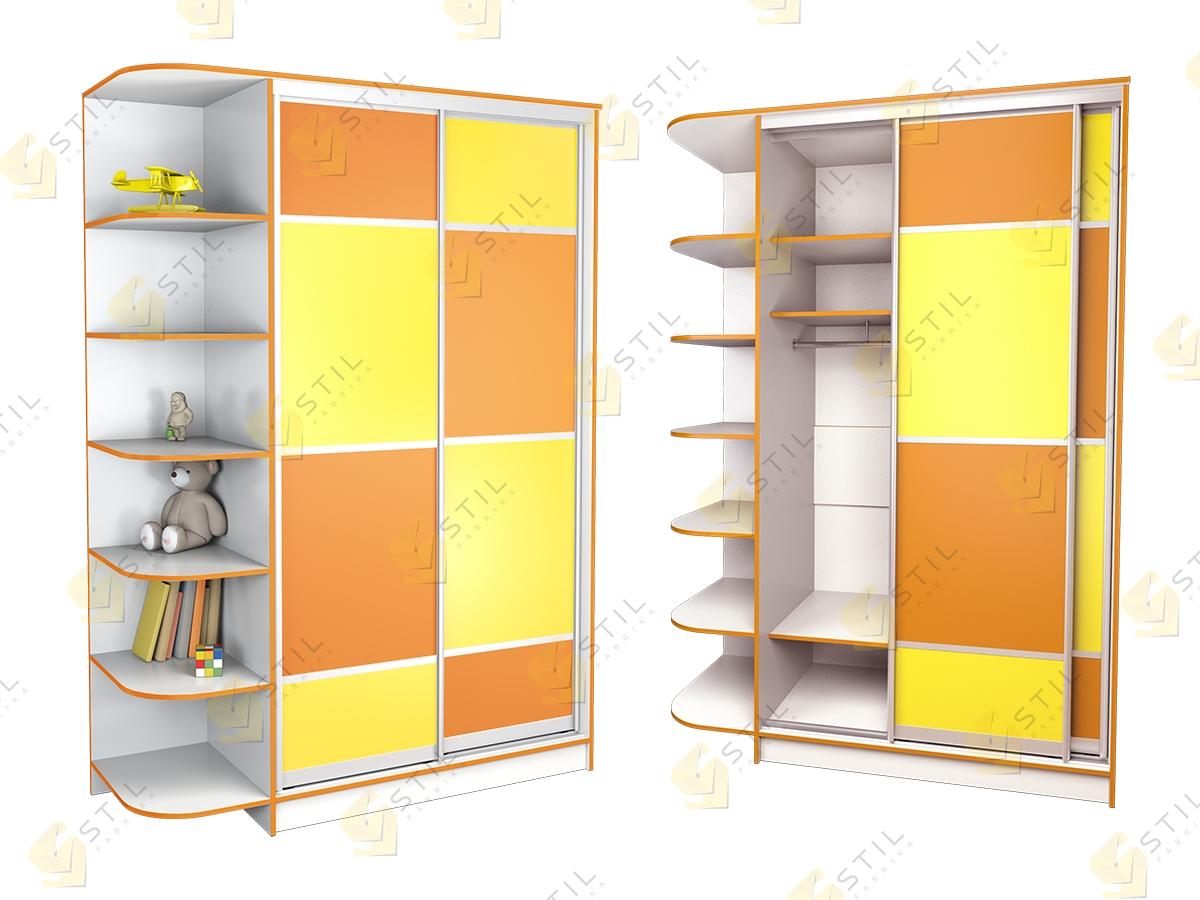 Купить детский шкаф купе радуга 2х-2 от производителя фабрик.