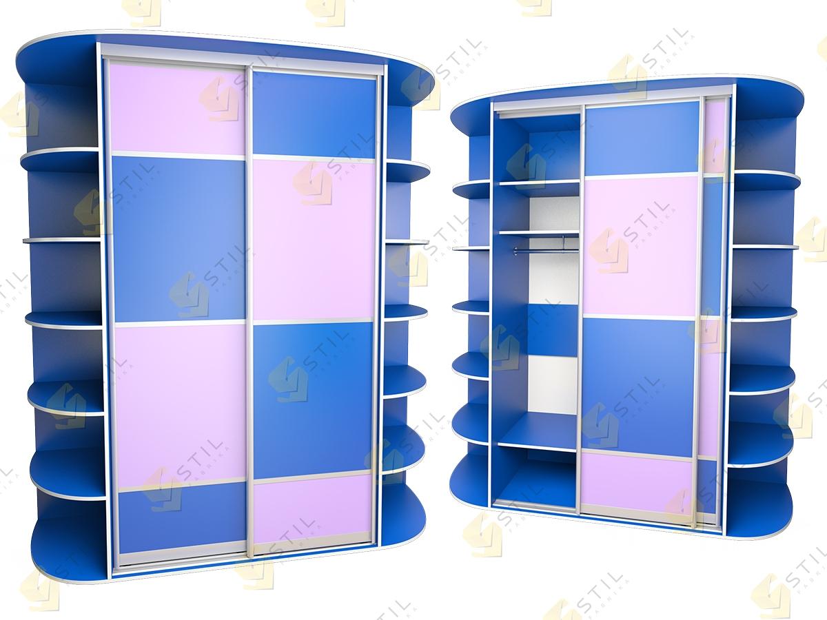 Детский шкаф купе Радуга 2х-3