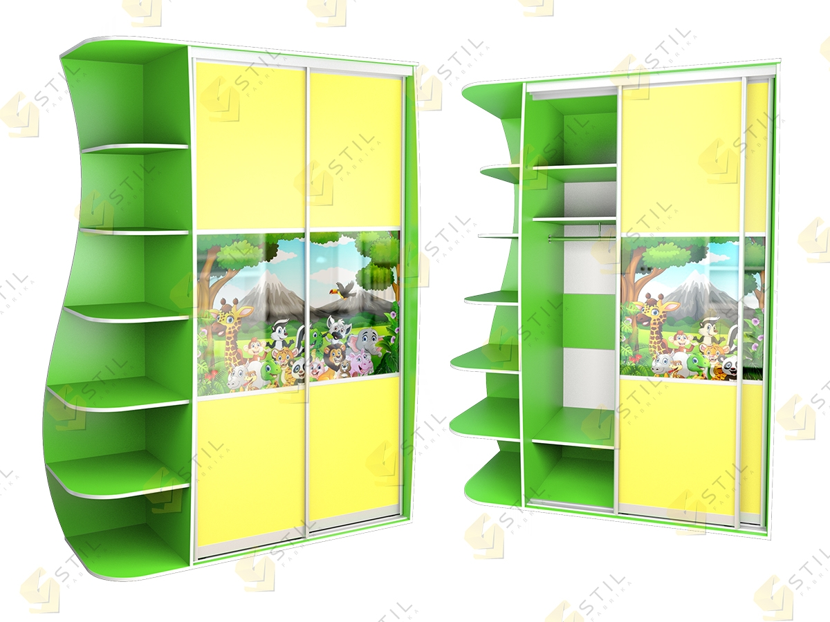 Детский шкаф купе Радуга 2х-6