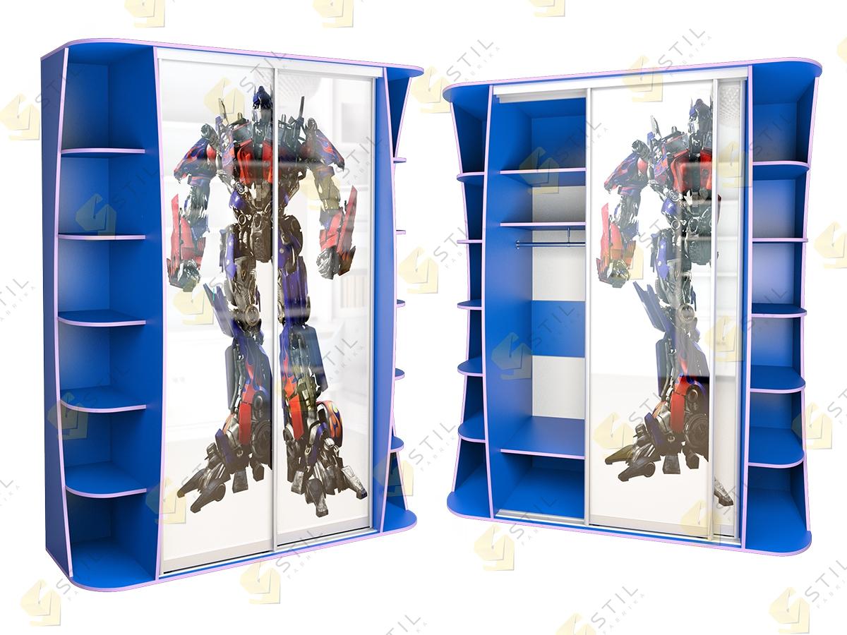 Детский шкаф купе Радуга 2х-Ф2