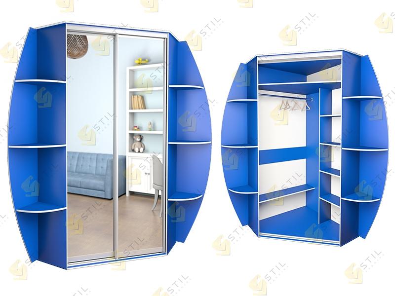 Угловой шкаф-купе в детскую Радуга У-7