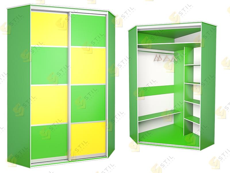 Угловой шкаф-купе в детскую Радуга У-3