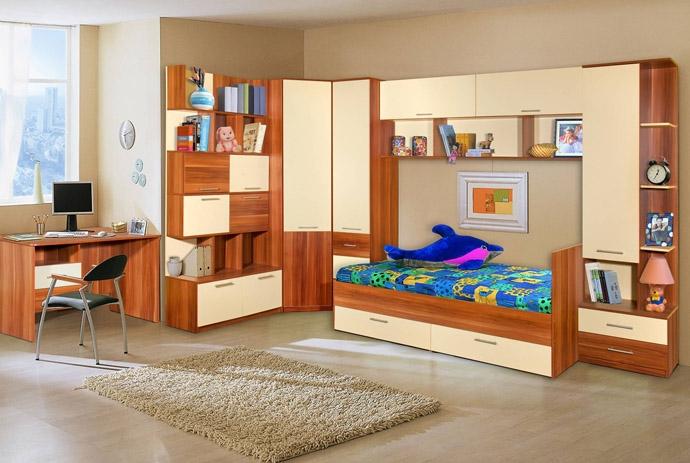 Недорогой набор мебели в детскую Ральф-1
