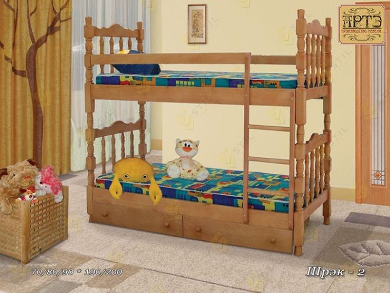 Детская кровать из массива Шрек-2