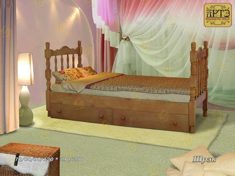 Детская кровать из массива Шрек