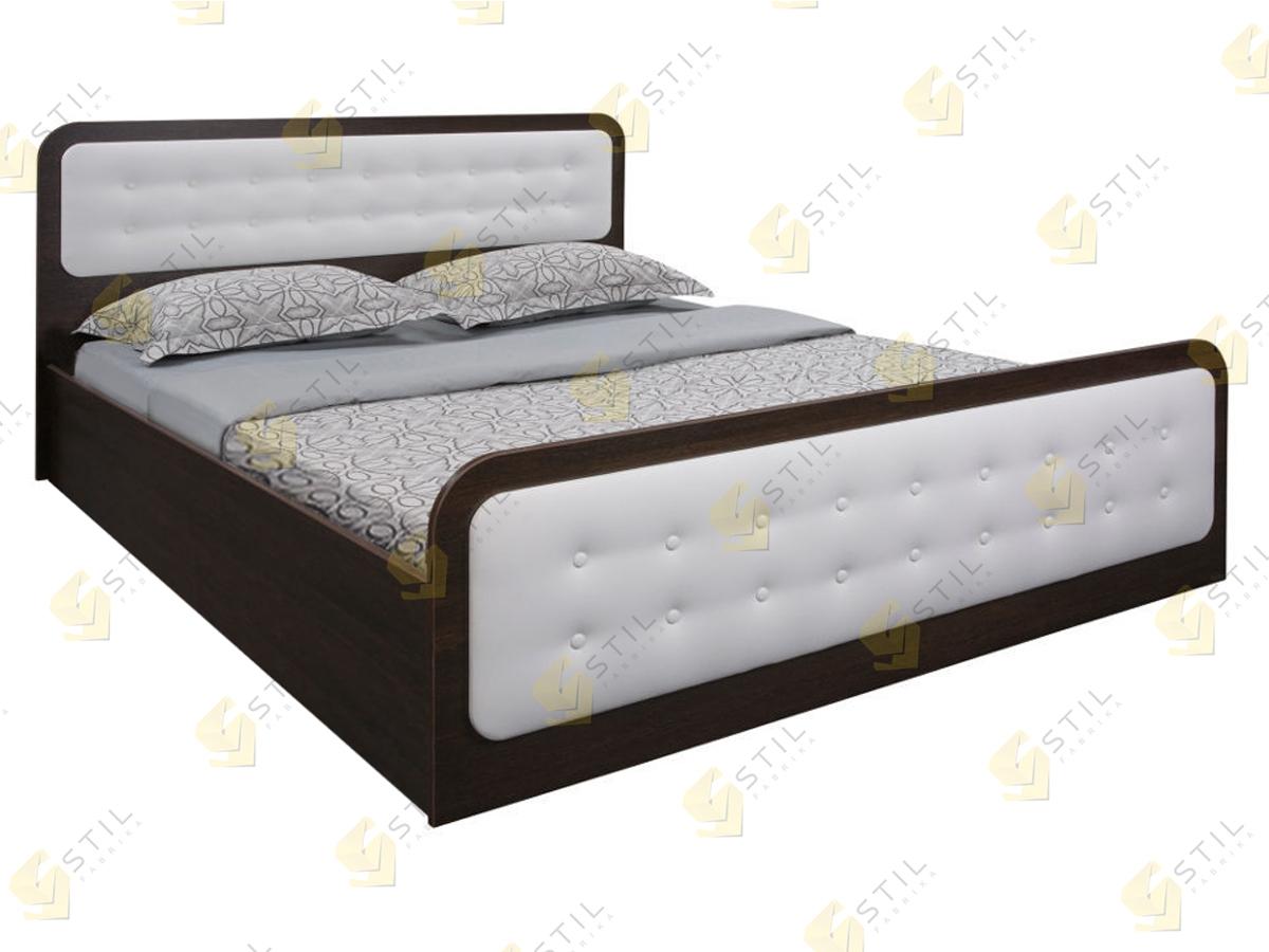 Кровать с мягким изголовьем Семела