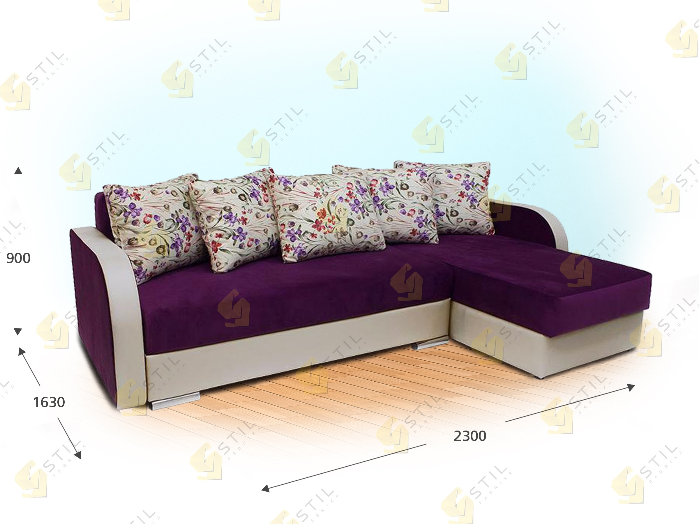 Угловой диван Сибелиус