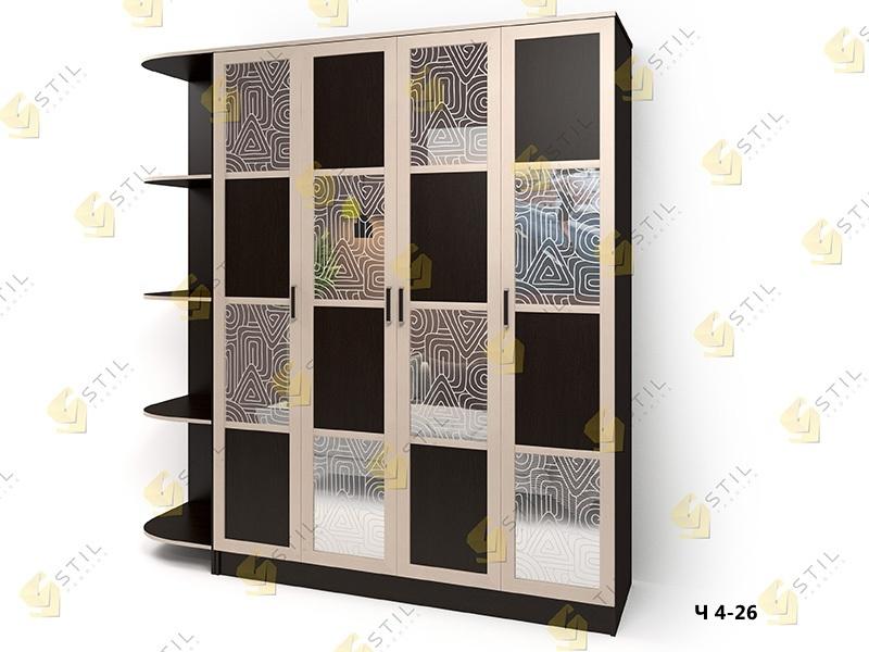 Распашной  шкаф Стайл Люкс Ч 4-26