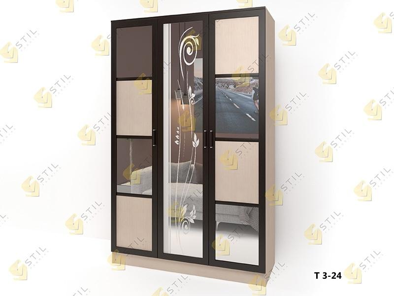 Распашной шкаф Стайл Люкс Т 3-24