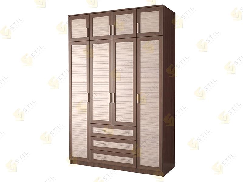 Четырехдверный шкаф с антресолью Стиль Ч-12Р