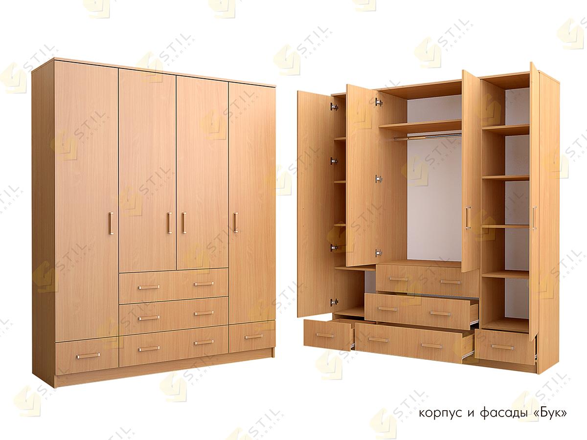 Распашной шкаф Стиль Ч-6Л