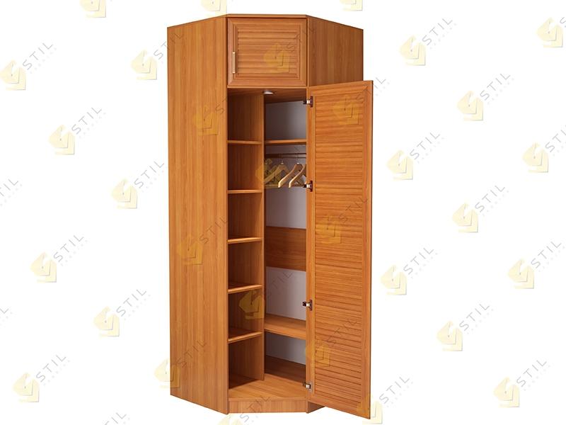 Угловой шкаф с жалюзийными фасадами Стиль У-11Ж