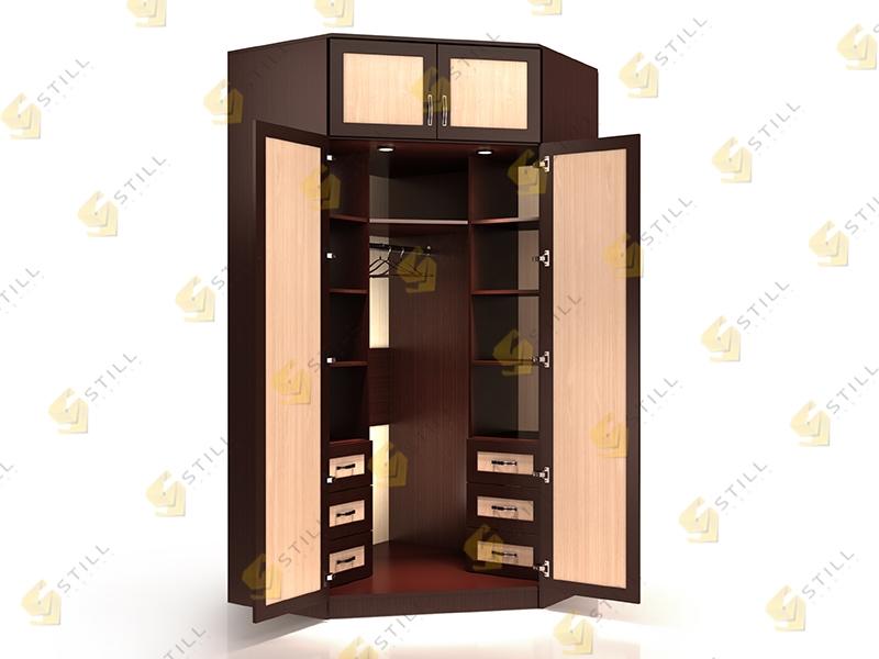 Недорогой угловой двухстворчатый шкаф Стиль У 13М