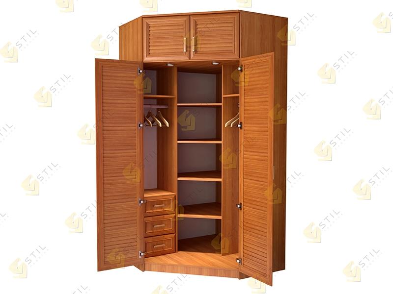 Угловой шкаф для прихожей Стиль У-15Ж