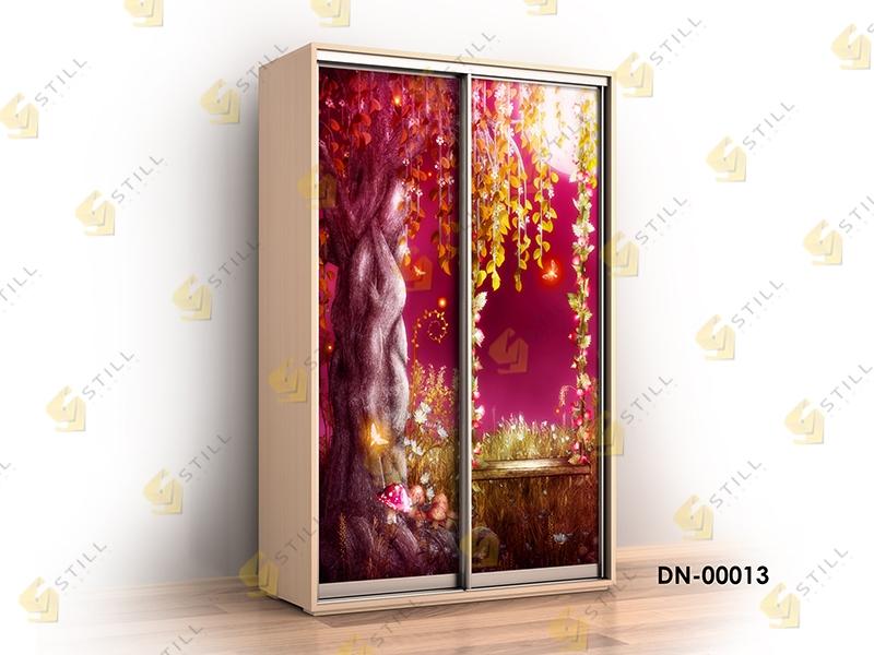 Недорогой двухдверный шкаф-купе с фотопечатью Титан Ф