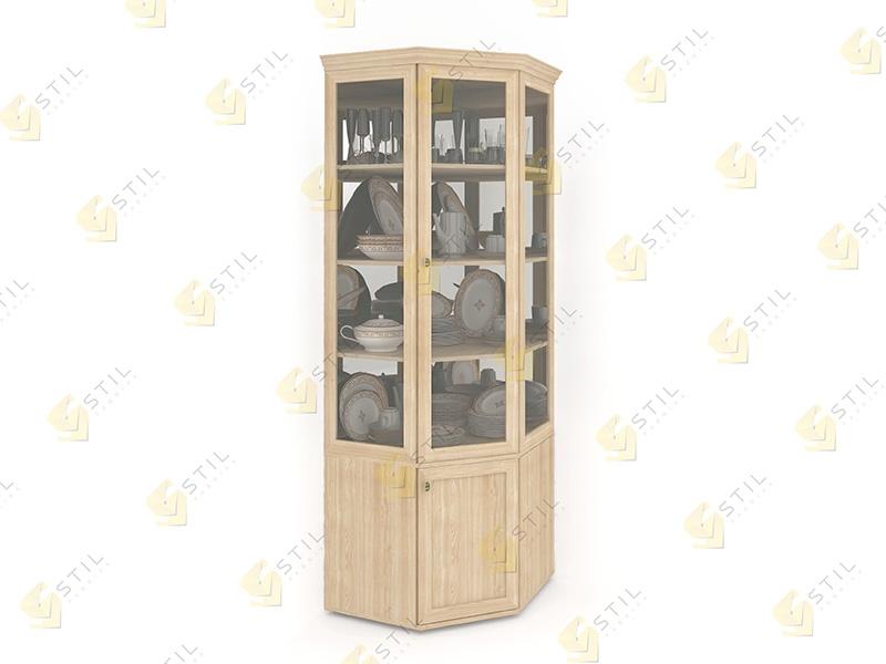 Угловой шкаф для посуды Витраж 1С