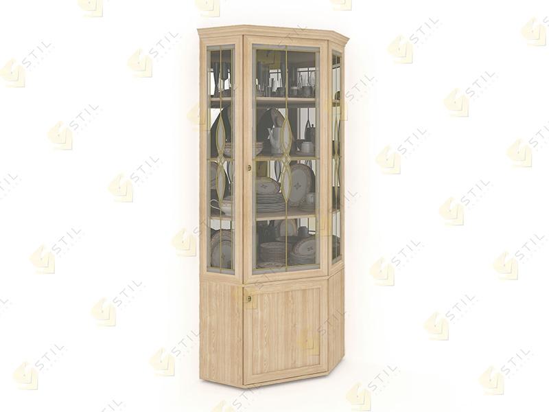 Угловой шкаф для посуды Витраж 1В