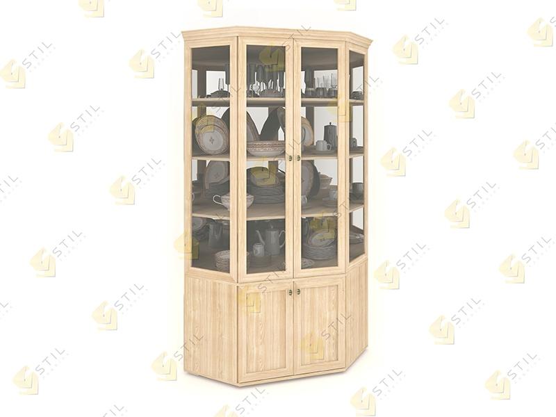 Угловой шкаф для посуды Витраж 2С