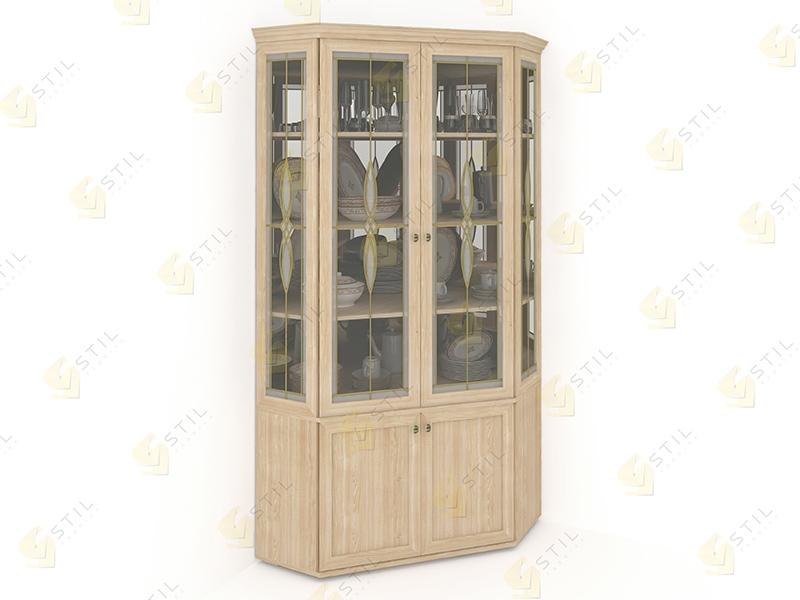 Угловой шкаф для посуды Витраж 2В